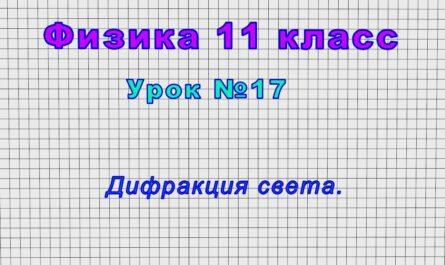 Физика 11 класс (Урок№17 - Дифракция света.)