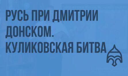 Русь при Дмитрии Донском. Куликовская битва. Видеоурок по истории России 10 класс